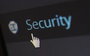 'security' typed on computer screen cybersecurity training