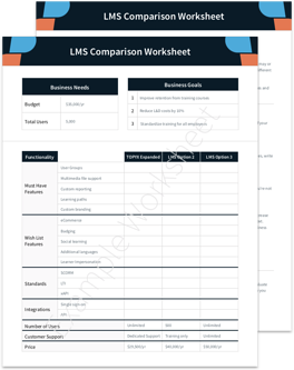 LMS Features Comparison Checklist