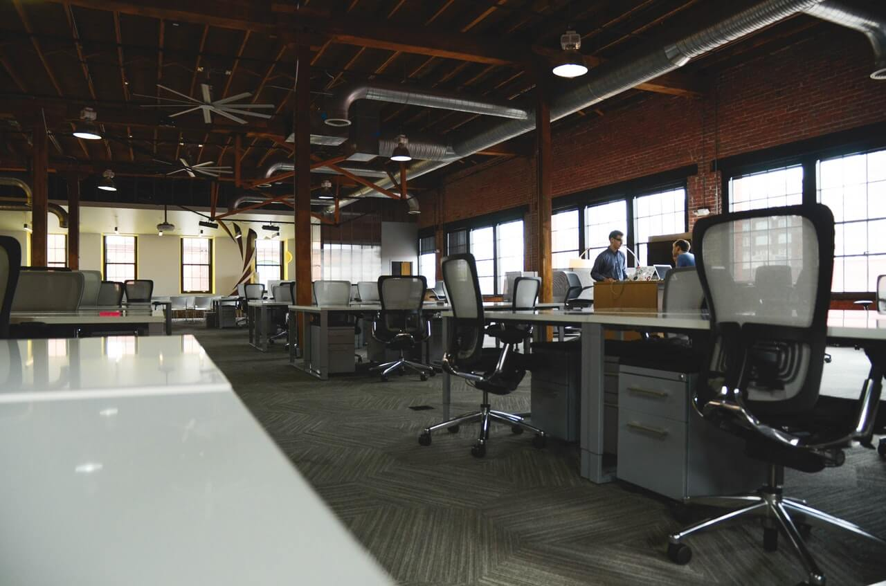 LMS for large companies desks in office