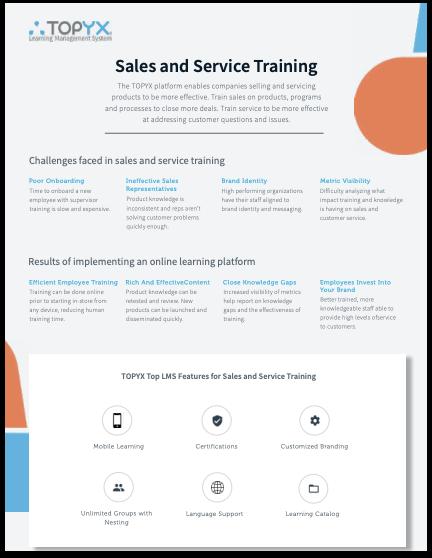 Sales & Service Training